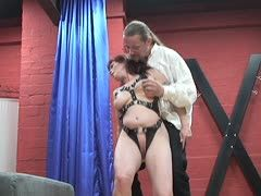Submissive redheaded German does everything for the long-haired guy