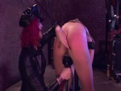 Lesbian slave in the dungeon
