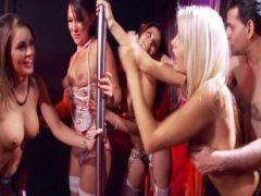 Group sex with hot strippers
