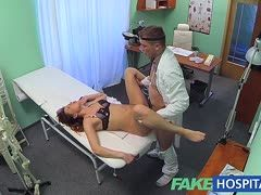 Young female patient is boinked by the doctor