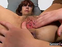 Young granny shows us her mature cunt