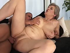 Granny is fucked by her very younger boyfriend