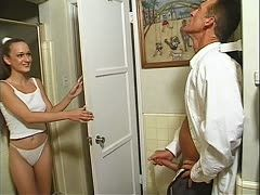 Teen is anal fucked by an old guy