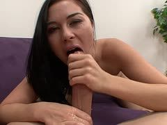 Ashley Blue takes Donny Long's prick deep in her mouth