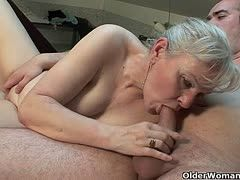 Old ladies still have fun with cocks