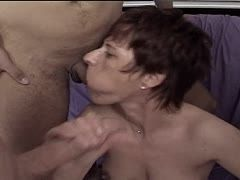 Horny granny is the fuck babe for several men