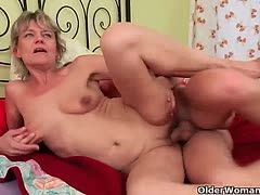 Young cocks fuck old pussies to an orgasm
