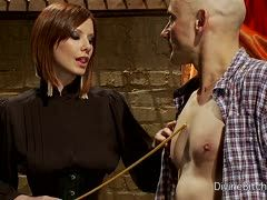 Mistress Madeline educates her slave to be a sissy