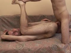Russian boys bang their male hairy asses