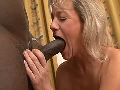 Blonde gilf allows herself a bbc