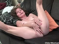 Grannies let you watch their masturbation