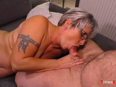 Fat German granny is fucked by her husband