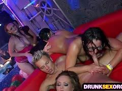 Gangbang party with a lot of wet pussies