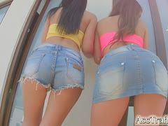 Deep ass sex with bisexual jeans babes
