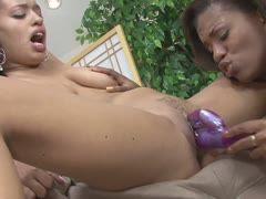 Two black lesbians and their sex toys