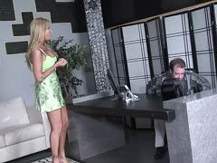 Blonde milf enjoys office sex