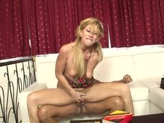 Horny blonde teenie gets private lessons