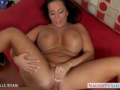 Brunette milf has hot fun with a cock