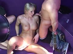 German blonde loves dirty action